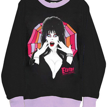 Elvira Gothic Goddess Two Tone Sweatshirt
