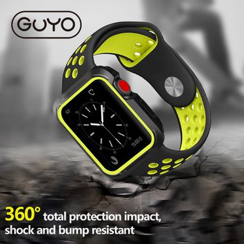 GUYO Universal Silicon Case for Apple Watch. Series 3, 2, and 1.