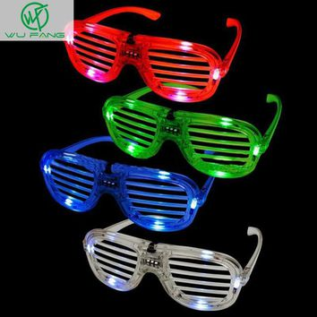 Shades flashing led glasses party Funny Tricky fluorescent luminous Rave Costume Party DJ Bright