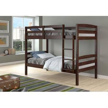 Dylan Cappuccino Bunk Bed for Girls or Boys