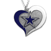Dallas Cowboys Women's Swirl Heart Necklace