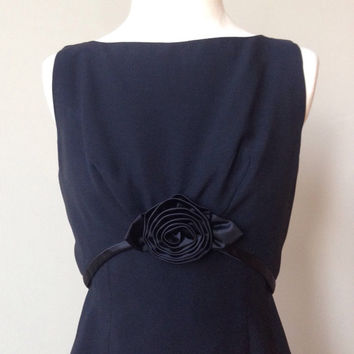 Black Vintage Sheath Dress Small 60s Tea Gown Just like Audrey Rose Little Black Dress XS