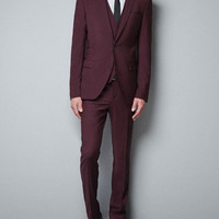 MAROON SUIT - Suits - Man - ZARA United States