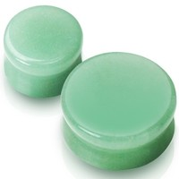 0g Jade Saddle Stone Earring Plugs Body Jewelry Ear Gauges