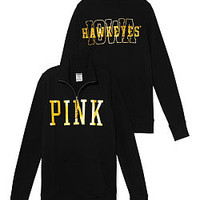University of Iowa Bling Half-zip Pullover - PINK - Victoria's Secret