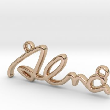 ALMA Script First Name Pendant by Jilub on Shapeways