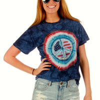 Peace, Love, and America Hippie Tee