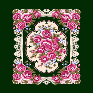 Green Flower G008 El Toro Queen Blanket - Free Shipping in the Continental US!