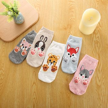Cat Claws Fox Dog Tiger Animal Socks Funny Crazy Cool Novelty Cute Fun Funky Colorful