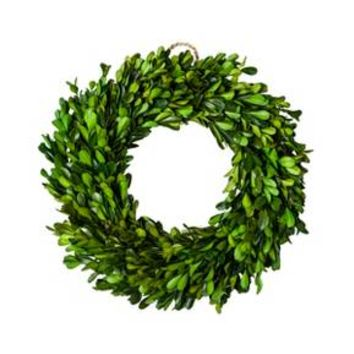 "Preserved Boxwood Leaves Wreath (10.75"") - Smith & Hawken™"