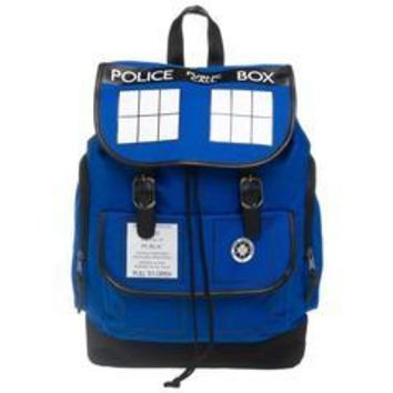 MPBP Dr. Who Tardis Backpack  Navy Blue Tardis Backpack