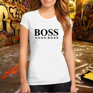 Hugo Boss T-shirt Brand Fashion Logo Tee Cotton T Shirt, (Various Color Available)