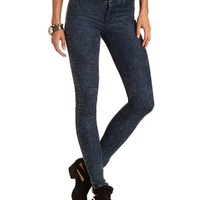 High Waisted Acid Wash Skinny Jean