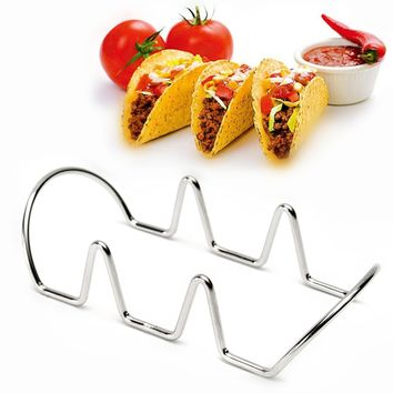 Mexican Taco Rack Holder Stainless Steel Food Rack Display Holder Pie Pancake Stand DIY Baking Decorating Tools Kitchenware