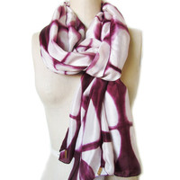 Handmade and Naturally Dyed Organic Silk Mulberry Scarf