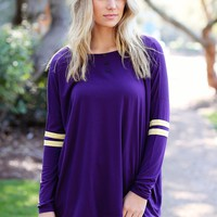 Grape PIKO Long Sleeve College Top