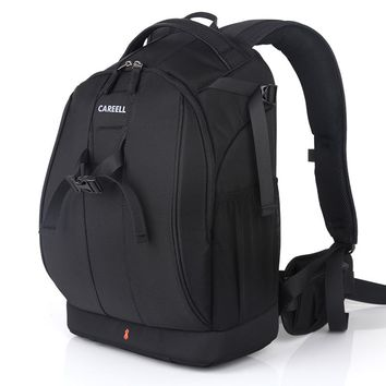 C1098  CAREELL Bag Camera Backpack DSLR Camera Bag Waterproof Soft Shoulders Bag Men Women Backpack For Canon/Nikon Camera