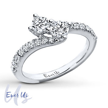 Ever Us Two-Stone Ring 1 ct tw Diamonds 14K White Gold