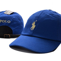 Cool Blue POLO Sports Embroidered Baseball snapback cap Hat