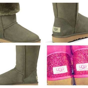CREY1O Custom UGG Boots made with Swarovski Classic Tall Free: Shipping, Repair Kit, Cleaning
