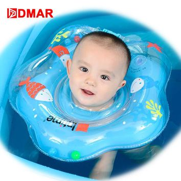 DMAR Baby Neck Float Neck Ring Infant Inflatable Swimming ring Adjustable Pool Float Toys Beach Sea Party Flamingo Unicorn Donut