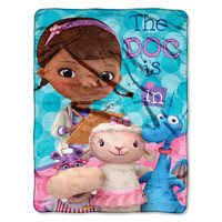 Doc Mcstuffins We Care Together  Micro Raschel Blanket (46in x 60in)
