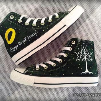 CREYUG7 Your Name in Elvish 'Custom Converse' / the Lord of the Rings / Elf