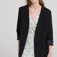 Jane Collarless Open Blazer Discover the latest fashion trends online at storets.com
