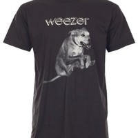 Lectro Weezer T-Shirt Alternative Punk Rock New Black Tee (L)