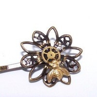 STEAMPUNK HAIR PIN Gears in Resin ONLY from THESTEAMPUNKTRUNK | TheSteamPunkTrunk - Accessories on ArtFire