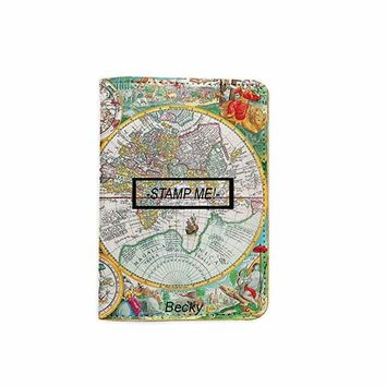 Stamp Me World Map Customized Cute Leather Passport Holder - Passport Covers - Passport Wallet_SUPERTRAMPshop