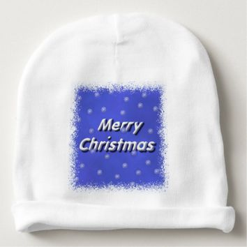 Frosty Merry Christmas Baby Beanie
