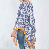 Blurred Floral Poncho