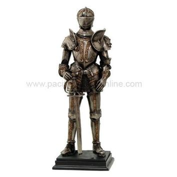 Medieval Knight Standing with Sword