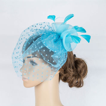Charming multiple color  crinoline fascinator headpiece wedding headwear cocktail  hair accessories suit for all seasons TMYQ051