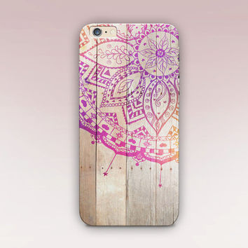 Mandala Wood Phone Case - iPhone 6 Case - iPhone 5 Case - iPhone 4 Case - Samsung S4 Case - iPhone 5C - Tough Case - Matte Case - Samsung