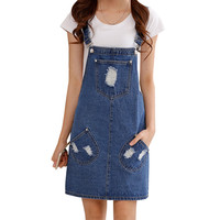 Preppy Style Pocket Overalls