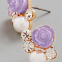 ModCloth Pastel Sashays Gone By Earrings in Lilac