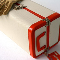 Vintage Train Case or Toy Doll Case Overnight Luggage by Luce