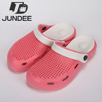 Women Hole Shoes Summer Garden Shoes Woman Cut-Outs Mules & Clogs For Women Breathable Garden Shoe Female