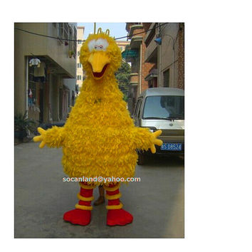 Sesame Street Big Bird Mascot Costume,Cosplay Costume,Halloween Costume,Party Costume,Clothing,Adults Costume,Christmas Costume,Big Bird Cos