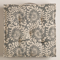 Wild Hibiscus Tufted Floor Cushion - World Market