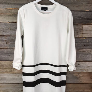 TERRY COTTON OVERSIZE DRESS - WHITE