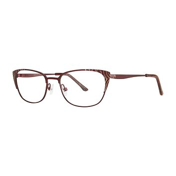 Dana Buchman - Glennora 52mm Berry Gold Eyeglasses / Demo Lenses