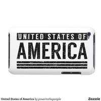 United States of America Barely There iPod Covers from Zazzle.com