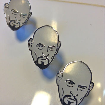 ANTON LAVEY enamel PiN -  limited edition! very rare! Satan!