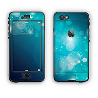 The Glowing Blue & Teal Translucent Circles Apple iPhone 6 Plus LifeProof Nuud Case Skin Set