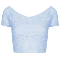 Lace Bardot Crop Top - New In This Week - New In - Topshop USA