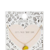 Taco Charm Necklace