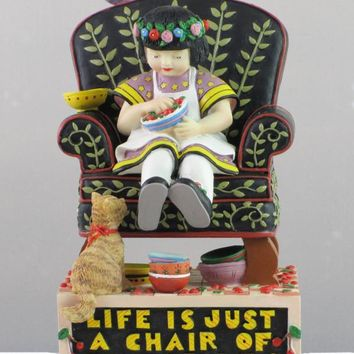 Mary Engelbriet Life Is Just a Chair of Bowlies Bookend-863963